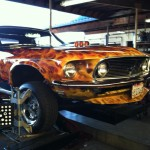 69GT Ford Mustang in Shop for Alignment