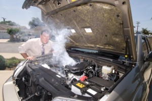 Engine over heating, cooling system service